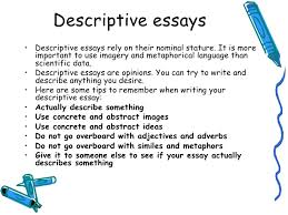 lecture descriptive essay  essays 4