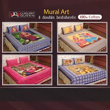 best 100 cotton sheets. Delighful 100 Mural Art  4 Double Bedsheets 100 Cotton 4DDBS4 To Best 100 Cotton Sheets S