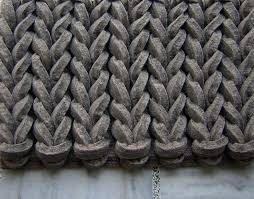 contract braided felt gray brown rug