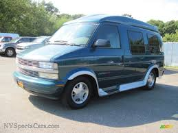 2000 Chevrolet Astro AWD Passenger Conversion Van in Teal Blue ...