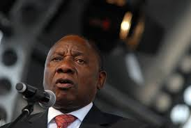 Image result for cyril ramaphosa speaking to the press