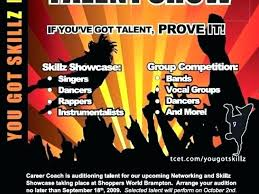 Talent Show Flyer Design Yearbook Templates Zgcuth