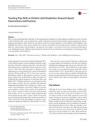 Early Childhood Education Terminology Chart Pdf Teaching Play Skills To Children With Disabilities