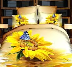 sunflower bedding sets sunflower bedding set erfly duvet cover cal king size queen full double bedspreads sunflower bedding