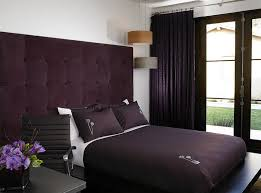 purple velvet brings an air of luxury to the small bedroom design amy noel bed design bed design latest designs