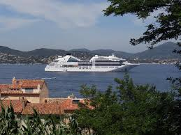 seabourn encore at anchor off st tropez in the terranean