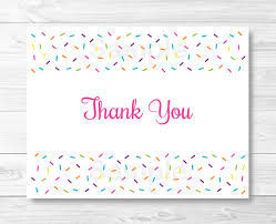 printable thank you card template baby sprinkle thank you card folded card template baby