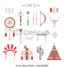 Indian Chief Dream Catcher Stunning Vector Colorful Ethnic Set With Dream Catcher Feathers Arrows And