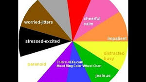 Colors And Moods Chart Mood Ring Color Meanings By The Color Wheel Chart Youtube
