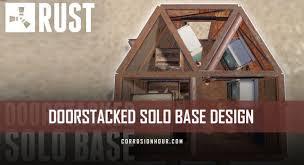 Vending Machine Rust Mesmerizing DOORSTACKED Solo Rust Base Design With Vending Machine Exploit