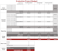 budget templets evaluation budget template