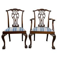Chippendale Furniture Set Of Eight Chippendale Dining Chairs With Ball And Claw Feet At