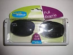 Solar Shield Size Chart Solar Shield 54 Rec 5 Full Frame Gray Polarized Clip On Sunglasses