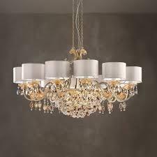modern italian 12 arm brushed gold chandelier