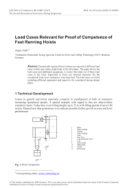 Hoist Drum Design Pdf Load Cases Relevant For Proof Of Competence Of Fast