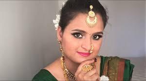 मर ठ मह र ष ट र यन ब र इडल म कअप maharashtrian bridal makeup look marathi mom in australia