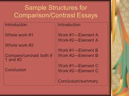 comparison and contrast strategies for rhetorical analysis ppt  12 sample structures for comparison contrast essays introduction