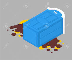 Portable Toilet Fell And Shit Leaked. Vector Illustration Royalty Free  Cliparts, Vectors, And Stock Illustration. Image 128770951.
