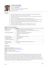 Experienced Software Engineer Resumes Experienced Software Engineering Resume Templates At