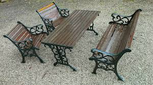 cast iron garden table and chairs gumtree