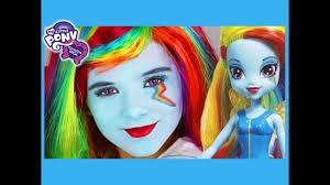 my little pony rainbow dash makeup tutorial equestria doll cosplay kittiesmama