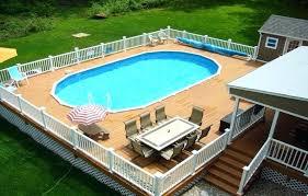 Above Ground Swimming Pool Deck Designs Impressive Decorating Ideas