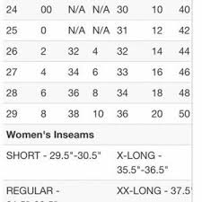 Womens Jeans Size Chart Conversion Bke Size Chart