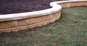brick garden edging. sand stack wall brick garden edging