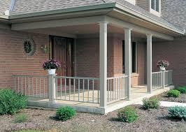 square aluminum columns and railing