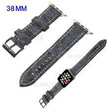 vintage matte genuine leather watch band for apple watch series 4 40mm series 3 2