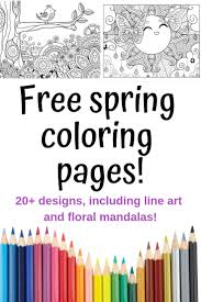 Spring Coloring Pages Free Printable Spring Adult Coloring Pages