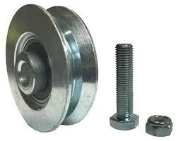 interior sliding barn door v groove steel wheel kit 2 3 8 x 5 8 with 10mm axle nut amazon industrial scientific
