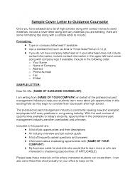 School Counselor Cover Letter Impression Photograph Sle Resume