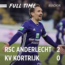 RSC Anderlecht - #RSCA 2-0 KV Kortrijk @ FULL TIME ⚽️...