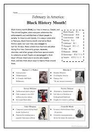 Black History Month Worksheets | Homeschooldressage.com