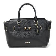 i take it and a coach coach handbag slant is shoulder bag 2way bag lady black leather used soot
