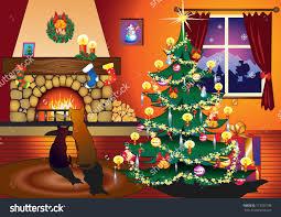 Living Room Christmas Christmas Living Room Clipart Clipartfest Free Living Room