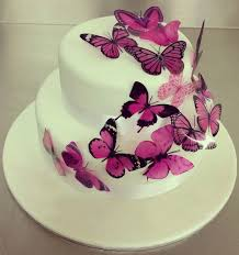 Purple Butterfly Cake Fondant Cakes In Lahore Free Delivery