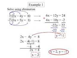 use the elimination method to solve system of equations solver