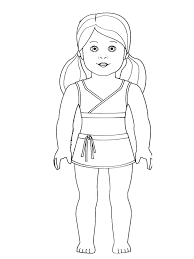 Doll Coloring Pages At Free Printable Dolls Coloring Pages Doll