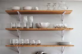 modern wall mounted kitchen shelves