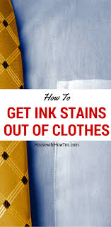 How to Get Ink Stains out of Clothes - Works on old and new stains!
