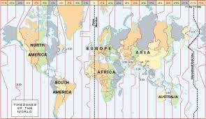 Time Map Worldwide Times Zones Global Time Zone S Map
