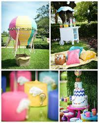 hot air balloon carnival birthday party