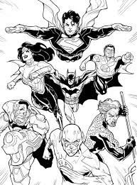 Small Picture DC Comic Justice League Coloring Page NetArt