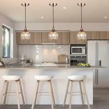 Kitchen Globe Lights 3 Crystal Pendant Lighting Ceiling Lights Kitchen Island Dining Room Bar Gold