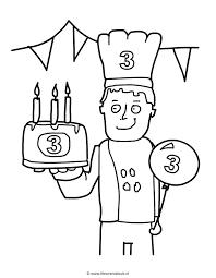 Verjaardag 3 Jaar Birthday Kleuren Is Leuk