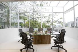 natural light office. eco friendly office conference room natural light e
