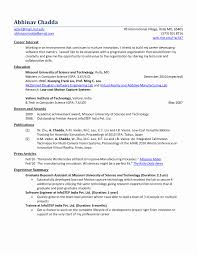 Resume Format For Freshers Accountant Best Of Resume Format