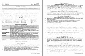 desktop resume resume format for technical support engineer inspirational desktop